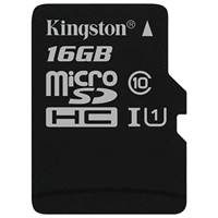 Карта памяти MicroSD 16Gb Kingston (SDCS/16GB microSDHC Class 10 UHS-I U1 Canvas Select (SD адаптер) 80MB/s)